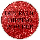 Dipcrylic Acrylic Dipping Powder - Winter Glitter Collection - Pointsettia thumbnail