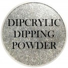 Dipcrylic Acrylic Dipping Powder - Glitter Collection - Sparkling Holographic Silver thumbnail