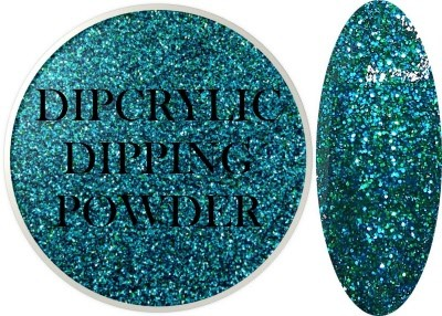 Dipcrylic Acrylic Dipping Powder - Glitter Collection - Sparkling Teal