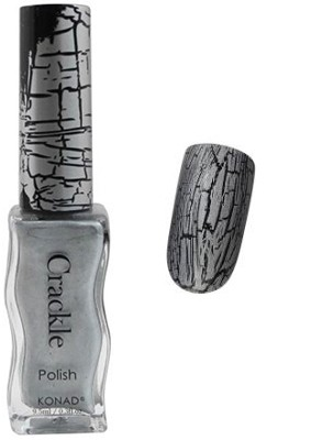 Konad Nail Art - Crackle Nail Polish - Silver - CPC04
