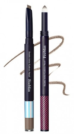 Feeblin Double Action Eyebrow Pencil 04 Light Brown