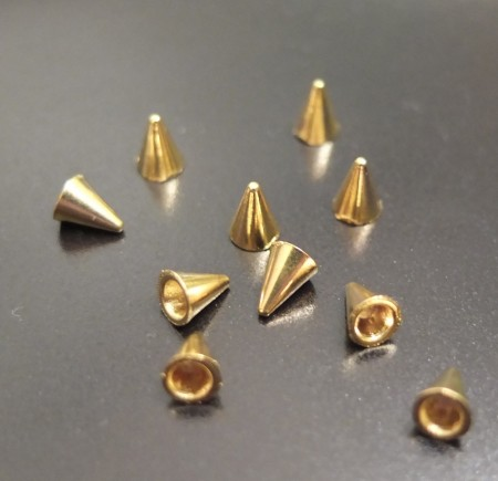 Spike Nail Art Studs - Metallic Gold