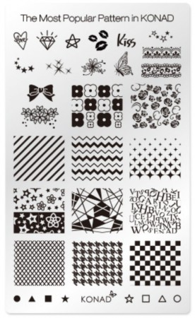 Konad Nail Art - Square Image Plate - The Most Popular Pattern in KONAD