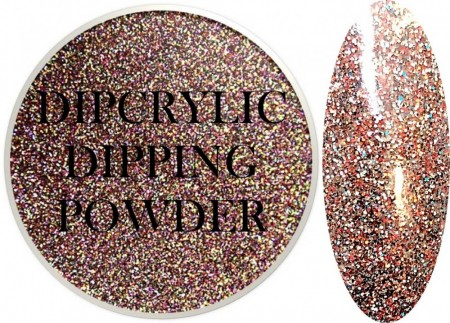 Dipcrylic Acrylic Dipping Powder - Glitter Collection - Toasted Pecan