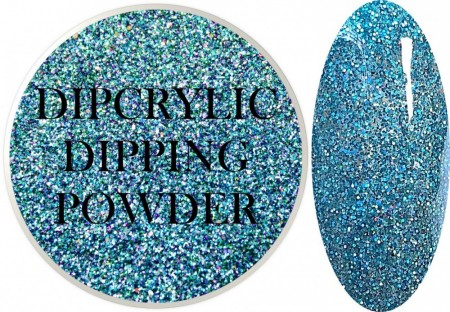 Dipcrylic Acrylic Dipping Powder - Glitter Collection - Holographic Blue