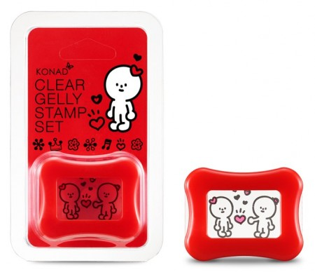 KONAD X BARABAPA - Clear Gelly Stamp Set - Happy