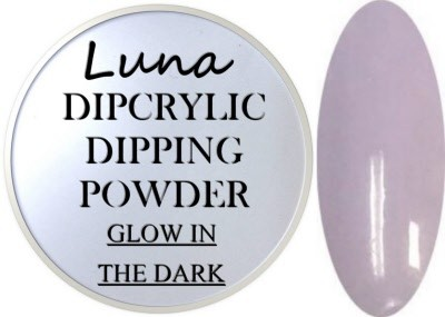 Dipcrylic Acrylic Dipping Powder - Glow in the Dark Collection - Luna Moonchild