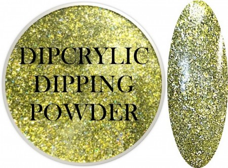 Dipcrylic Acrylic Dipping Powder - Glitter Collection - Sparkling Lime