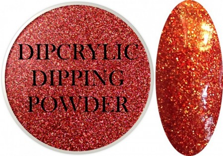 Dipcrylic Acrylic Dipping Powder - Glitter Collection - Holographic Flames