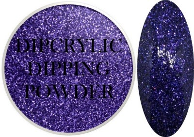 Dipcrylic Acrylic Dipping Powder - Glitter Collection - Sparkling Purple