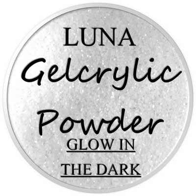 Gelcrylic Powder - Luna Glow In the Dark Collection - Glistening White