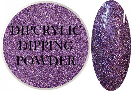 Dipcrylic Acrylic Dipping Powder - Glitter Collection - Holographic Purple