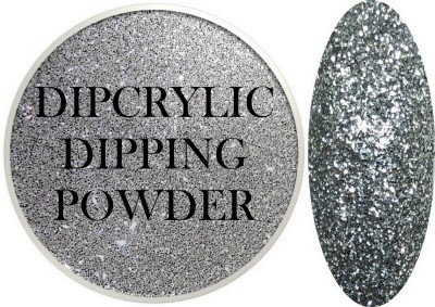 Dipcrylic Acrylic Dipping Powder - Glitter Collection - Sparkling Silver