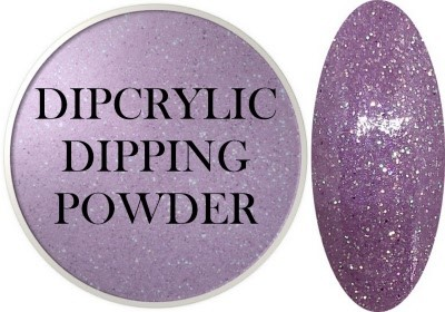 Dipcrylic Acrylic Dipping Powder - Glitter Collection - Shimmering Lilac