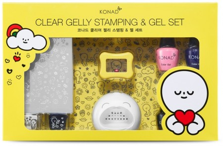 KONAD X BARABAPA - Clear Gelly Stamping & Gel Set