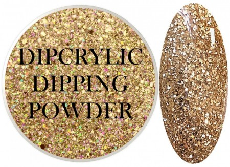 Dipcrylic Acrylic Dipping Powder - Glitter Collection - Sparkling Champagne Mix