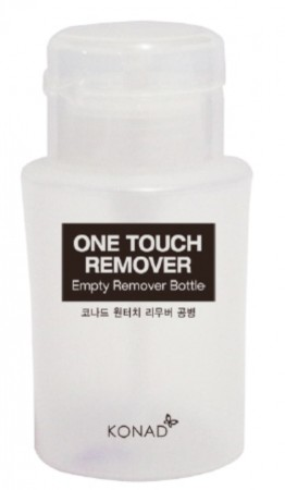 Konad Nail Art - One Touch Empty Remover Bottle - Pumpeflaske