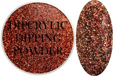 Dipcrylic Acrylic Dipping Powder - Glitter Collection - Burnt Orange