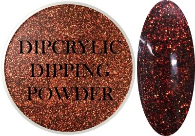 Dipcrylic Acrylic Dipping Powder - Glitter Collection - Red Rum