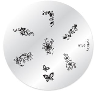 Konad Nail Art - Mønsterplate m36