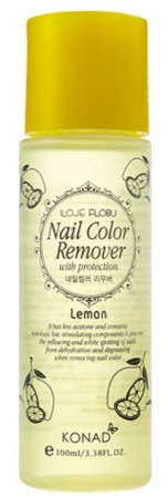 Konad Nail Color Remover with Protection - Lemon