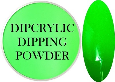 Dipcrylic Acrylic Dipping Powder - Neon Collection - Neon Green