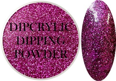Dipcrylic Acrylic Dipping Powder - Glitter Collection - Sparkling Raspberry