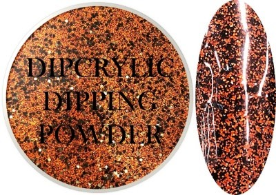 Dipcrylic Acrylic Dipping Powder - Glitter Collection - Jack O Lantern