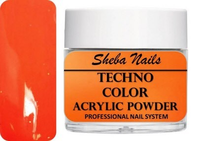 Techno Color Acrylic Powder - Neon Orange