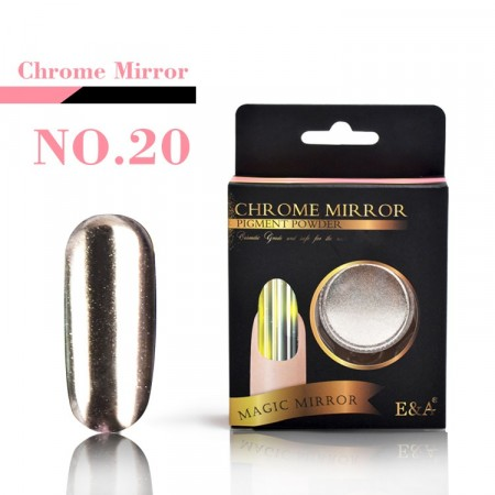 Magic Mirror Chrome Powder - Chrome Shiny Silver #20