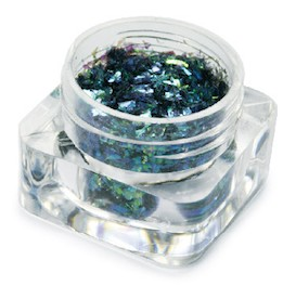 Mylar Flakes - Random Iridescent Black Green - GDA-105
