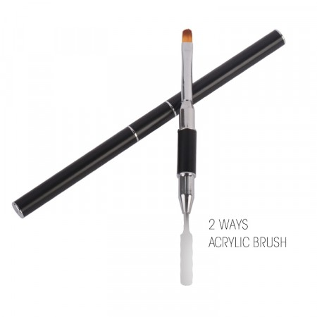 2 Ways Powder Gel Brush - Poly Gel Tool #8