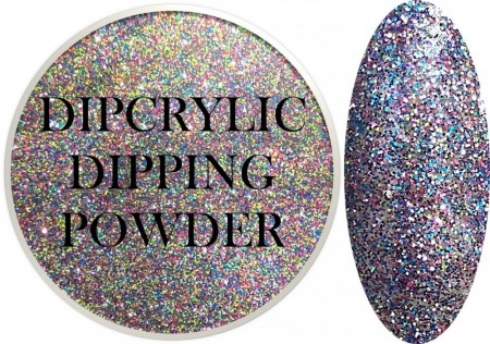 Dipcrylic Acrylic Dipping Powder - Glitter Collection - Up All Night