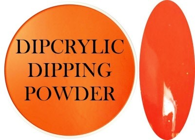 Dipcrylic Acrylic Dipping Powder - Neon Collection - Neon Orange