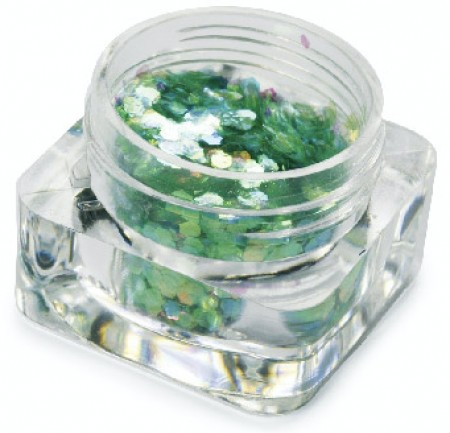 Hexagon Dazzling - Iridescent Light Green - GDA-071