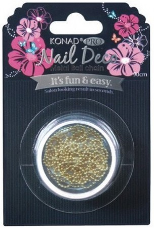 Konad Professional Nail Decor - Metal Ball Chain - Gold