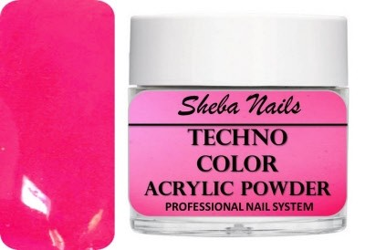 Techno Color Acrylic Powder - Neon Pink