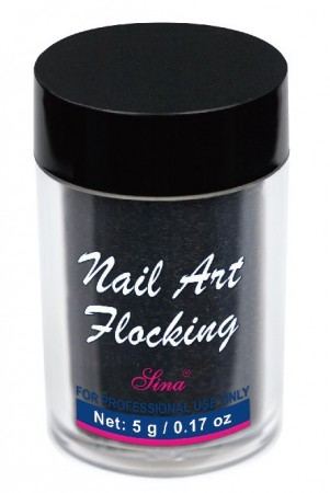Flocking Nail Art - 12 - Black