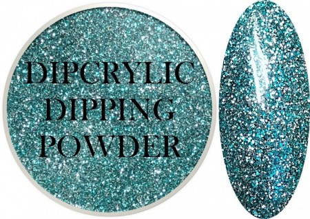 Dipcrylic Acrylic Dipping Powder - Glitter Collection - Turquoise Tonight