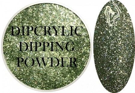Dipcrylic Acrylic Dipping Powder - Glitter Collection - Sparkling Sea Green