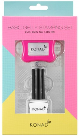 Konad Nail Art - Set - Basic Gelly Stamping Set