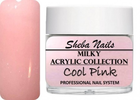 Nude Color Acrylic Powder - Milkies - Cool Pink