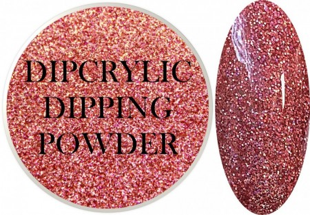 Dipcrylic Acrylic Dipping Powder - Glitter Collection - Holographic Pink