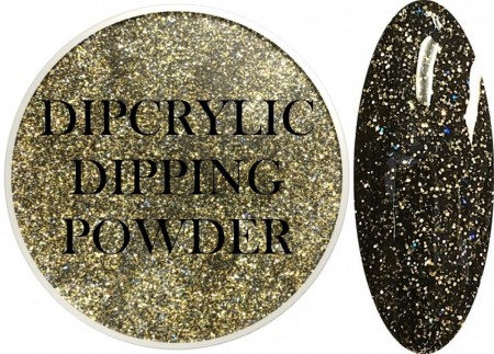 Dipcrylic Acrylic Dipping Powder - Glitter Collection - Sparkling Military Green