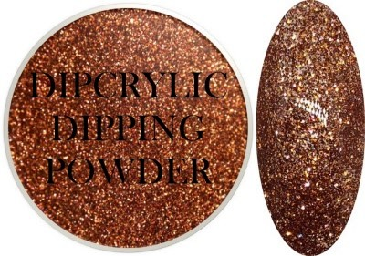Dipcrylic Acrylic Dipping Powder - Glitter Collection - Sparkling Copper