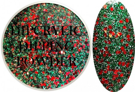Dipcrylic Acrylic Dipping Powder - Winter Glitter Collection - Holly