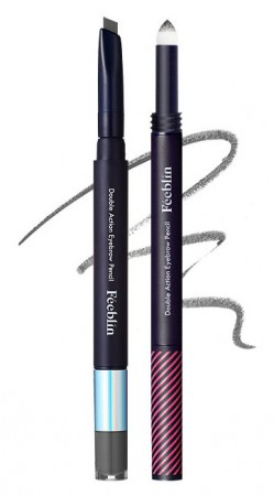 Feeblin Double Action Eyebrow Pencil 01 Dark Gray