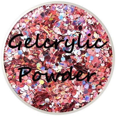 Gelcrylic Powder - Glitter Mix - Platinum Pink