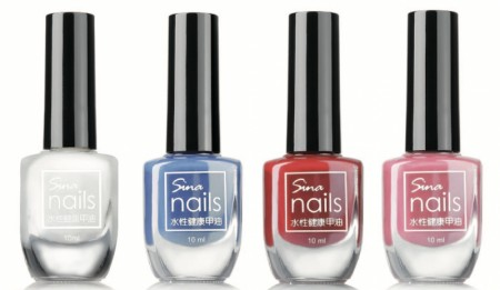 - WATER-BASED NAIL POLISH
