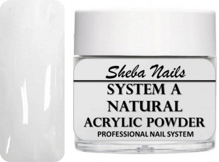 Sheba Nails - Selvjevnende akrylpulver - Natural - 60 ml